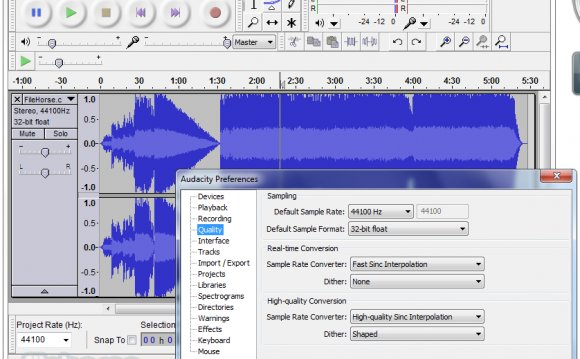Audacity Screenshots