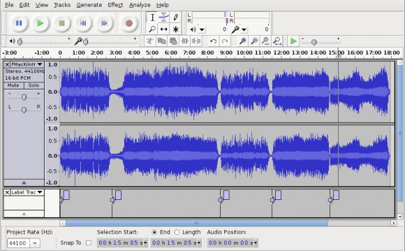 [Audacity Editing an Album