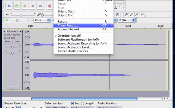 Audacity - Transport changes