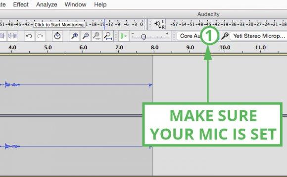 Audacity tutorial so set up