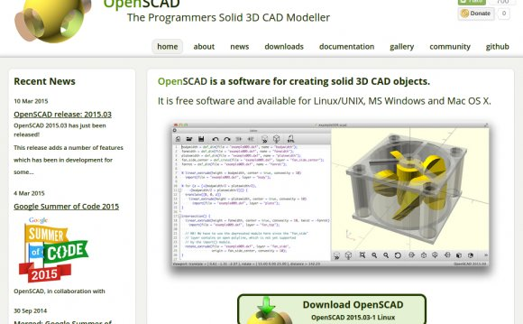 OpenSCAD is a software for