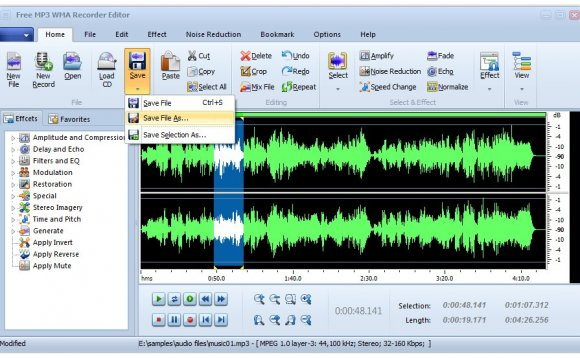 Free MP3 WMA Recorder Editor