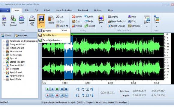 Free MP3 WMA Recorder Editor