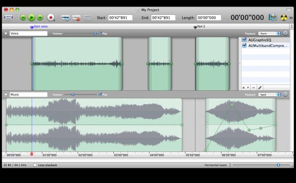 Multitrack editor