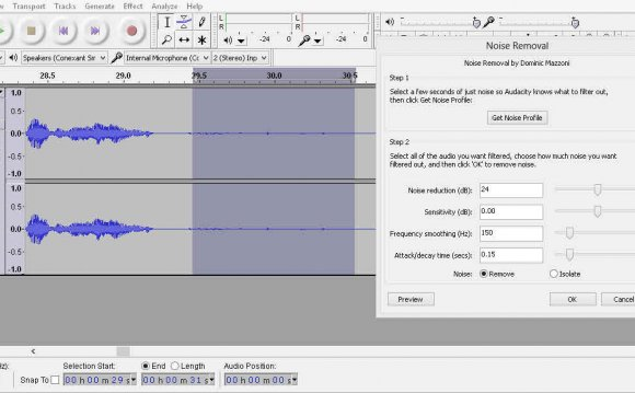 Audacity 9 - Noise removal