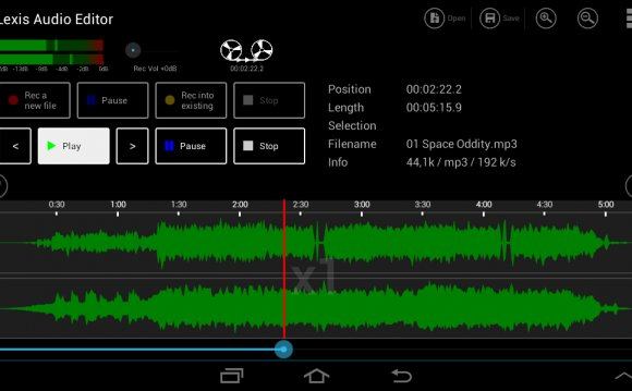 Lexis Audio Editor- screenshot