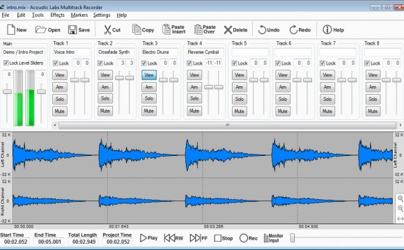 Multitrack Recorder, Editor