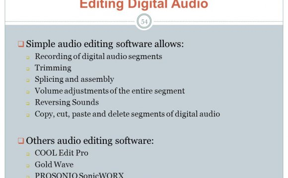 Simple audio editing