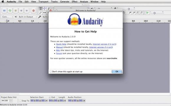 Software audacity audio