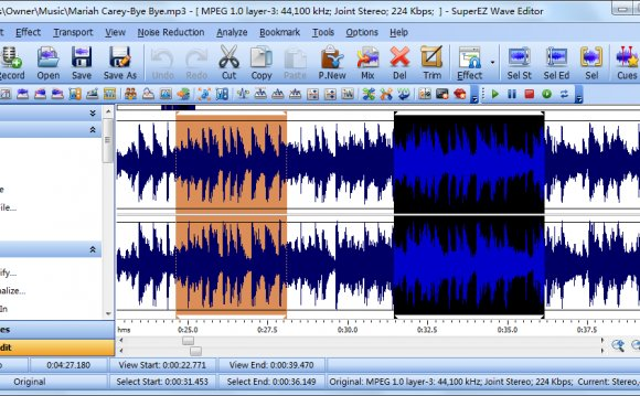 Edit & record audio file and