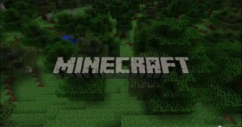 A Minecraft screenshot and logo