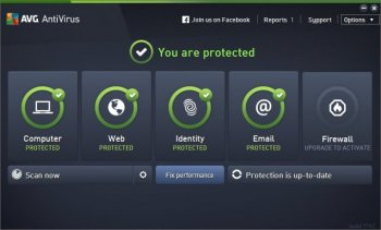 AVG AntiVirus (2016) Main WIndow