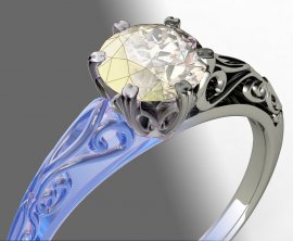 Comparison of CAD and Design Software Used for Jewellery, sample image from 3D CAD