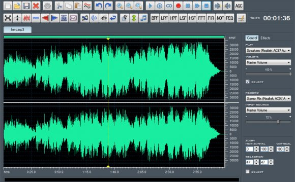 Windows audio Editor