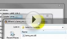 Audacity: Install LAME MP3 Encoder