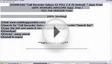 Download Free Call Recorder Galaxy S2 FULL 1.9.7b (Android
