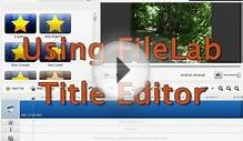 FREE FileLab Video Editing Software Tutorial,EZ HD