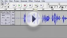 Podcast recording and WAV file export in Audacity