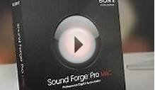 Sony formally releases Sound Forge Pro Mac audio editor