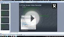 Youtube Software Series 1.9 - Recording Software: Free